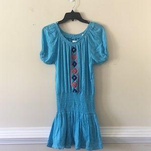 Piper by Townsen blue drop waist dress